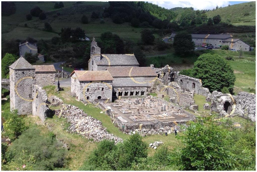 17-Ardéchoise  juin 2017- Abbaye de  Mazan